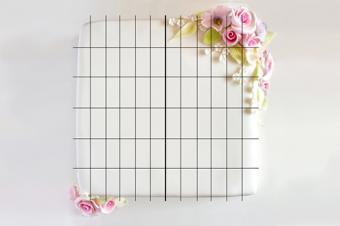 square cake slicing pattern