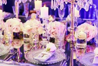Elegant table setting for wedding