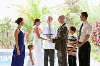 Casual wedding ceremony