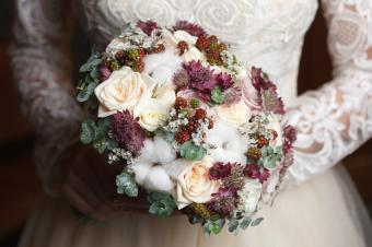 Cotton bridal bouquet