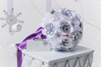 Sparkling ice bouquet