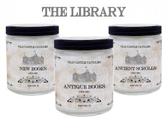 Book Candles The Library Set