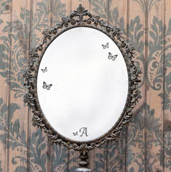 DIY Vintage Etched Mirror