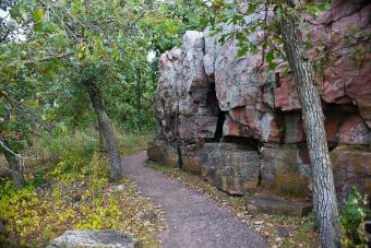 Minnesota's Quartzite Cliffs on Circle Trail
