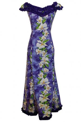 Jade Fashion Flower Hawaiian Wedding Dress