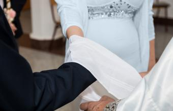 Wedding ceremony handfasting