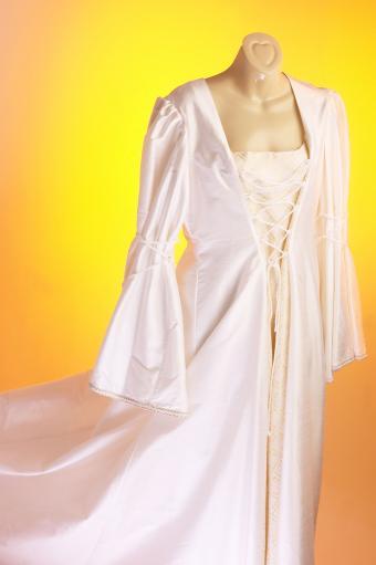 Peasant style wedding dress