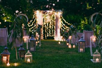 Lighted Ceremony Arch and Aisle
