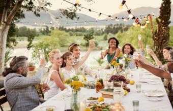 BBQ wedding reception