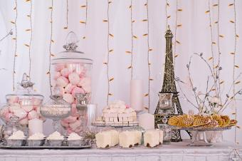 themed shower dessert table
