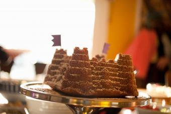 Detailed sandcastle cake