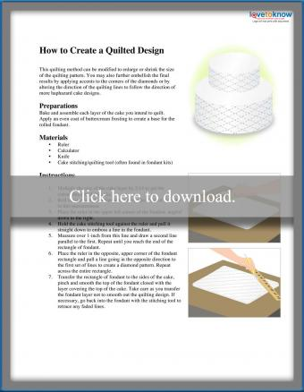 quilted pattern and instructions