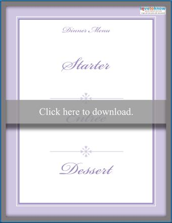 Click to download the lavender menu.
