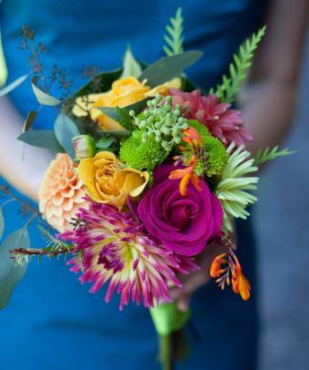 vivid blue with bright bouquet