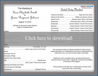 Click to print the traditional program.