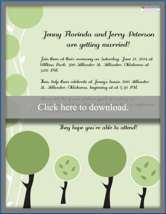 Click to print the outdoor wedding invite.
