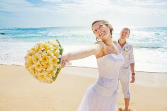Handheld Plumeria Wedding Bouquet