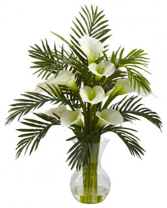 Calla Lily and Palm Combo