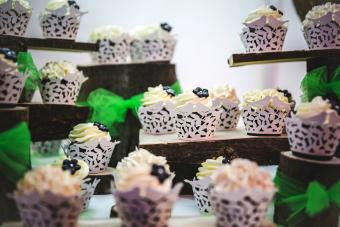 Cupcakes in decorated cupcake holders
