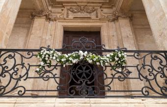 balcony adorned with flowers
