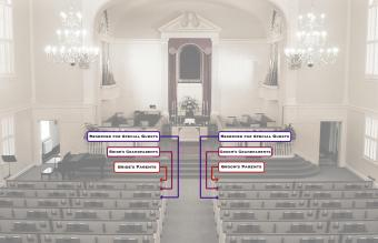 reserved setting at church