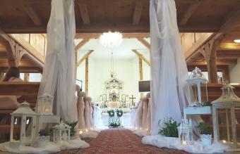 Interior decoration of a church