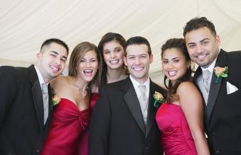 Portrait of bridal party