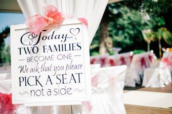 Information Sign At Wedding Ceremony