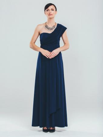 Woman wearing an elegant evening gown