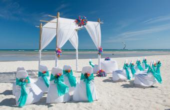 Chairs And Gazebo On Beach
