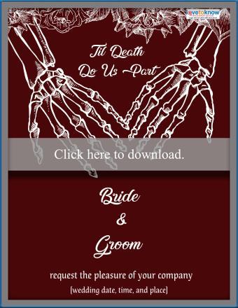 goth wedding invitation