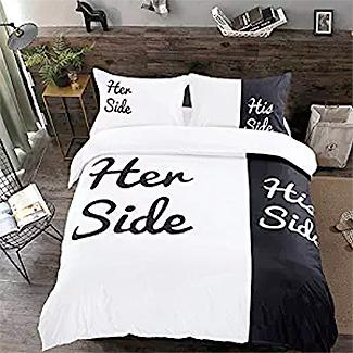 His Side Her Side Bedding Set
