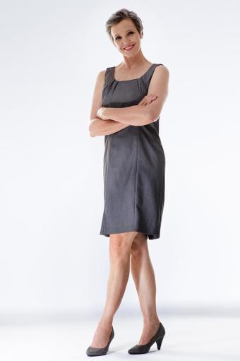 Simple Neutral Sheath Dress