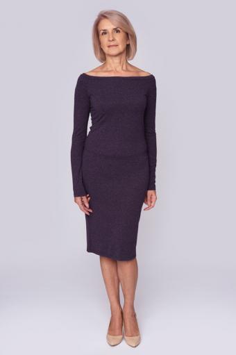 Off-the-Shoulder Mid-Length Dress