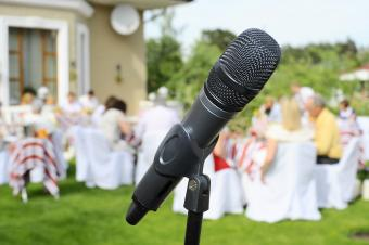 Microphone at a wedding