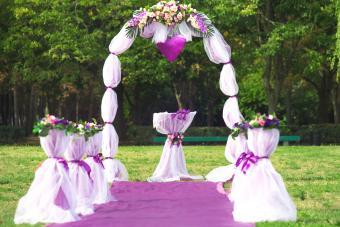 Beautiful flowers wedding arch.
