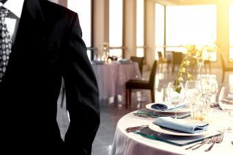 Wedding business table setting