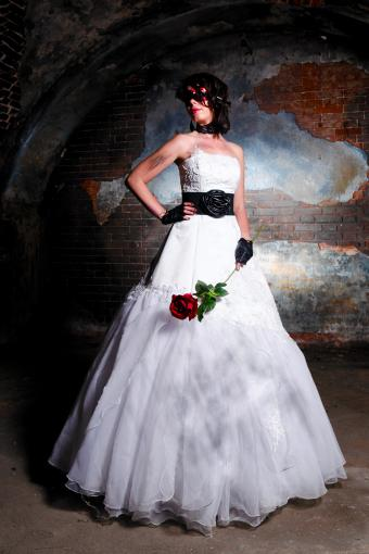 Full-Length WeddingGown With Punk Accents