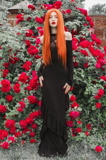 Romantic punk Goth bride