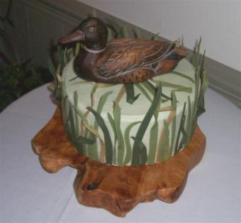 Duck hunting groom's cake by BettyCakes