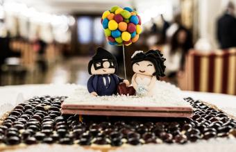Pop Culture wedding cake topper