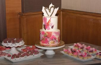 Love Themed Wedding Decor & Cake