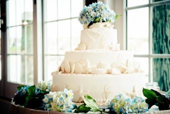 Ocean themed wedding cake