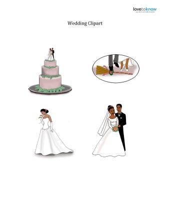 African American Wedding Clipart