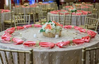Arranged Dining Tables During Wedding