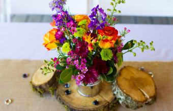 Floral Wedding Reception Centerpieces