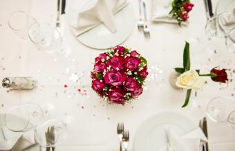 Dining Table During Wedding Ceremony