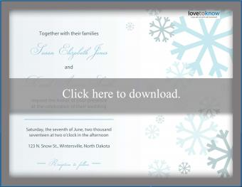 Winter Wedding Invitation Snowflakes
