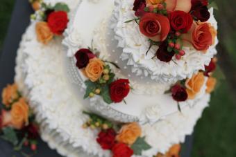 Autumn Wedding Cake taken from above