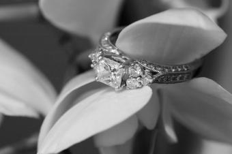 Photo of an art deco wedding ring